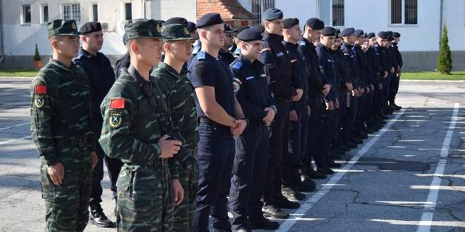 Centrul de Perfecţionare a Pregătirii Cadrelor Jandarmi Gheorgheni: Demararea stagiului de arte marţiale condus de instructori chinezi