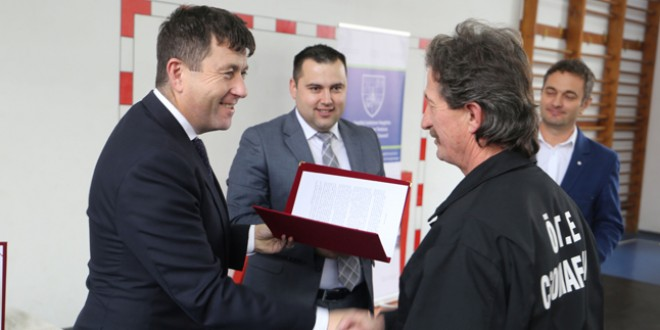 Consiliul Judeţean Harghita a premiat pompierii voluntari din zona Gheorgheni