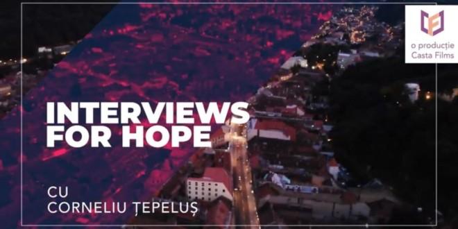 <i>Interviuri pentru speranţă </i>cu harghiteanul Corneliu Ţepeluş şi braşoveanca Cristina Rad