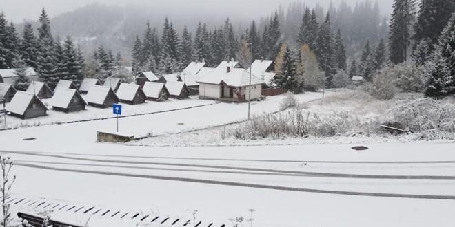 Primele ninsori depuse în Harghita