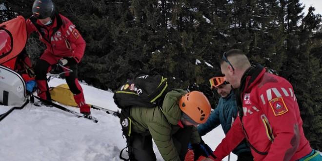 Intervenţii multe ale salvamontiştilor harghiteni în acest sezon de schi