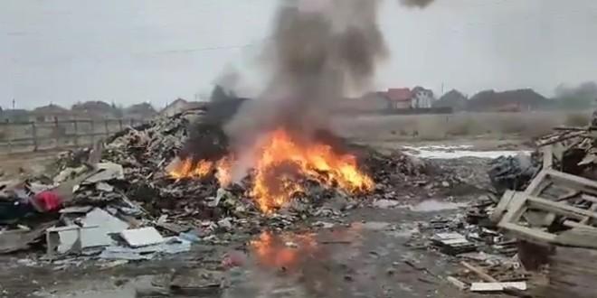 6.000 de lei amendă pentru incendierea unor deşeuri