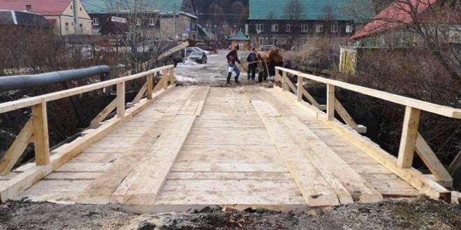 Trei poduri nou-nouţe pentru locuitorii din Tulgheş