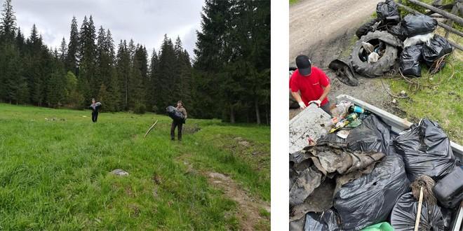 Ce gunoaie pot fi găsite în inima munţilor? Anvelope de TAF, bidoane de ulei şi carburant, haine