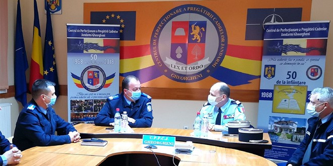 Schimb de experiență la sediul Centrului de Perfecționare a Pregătirii cadrelor Jandarmi Gheorgheni