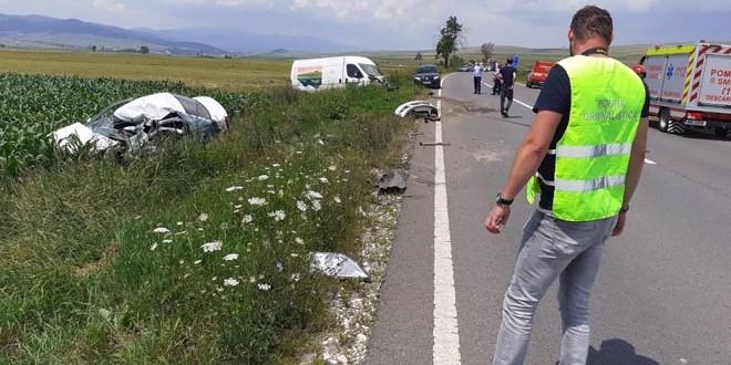 O femeie decedată, într-un accident rutier produs pe raza comunei Sâncrăieni