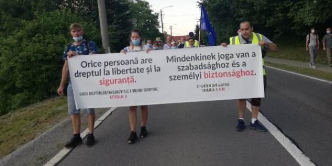 """Protestul """"disperării"""" la Băile Tușnad"""