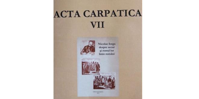 <h5><i>Acta Carpatica VII:</i></h5> O continuitate remarcabilă a cercetării ştiinţifice privind sud-estul Transilvaniei