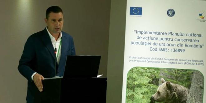 """A fost lansat proiectul """"Implementarea Planului naţional de acţiune pentru conservarea populaţiei de urs brun din România"""""""